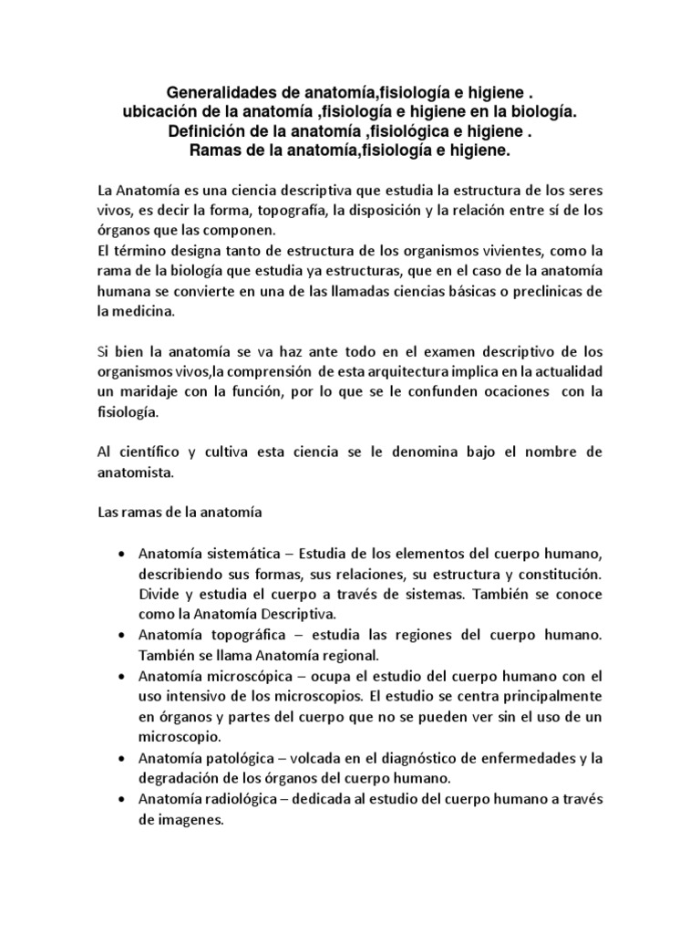 Increíble Cómo Define La Anatomía Humana Bandera - Anatomía de Las ...