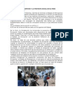 Los Estados de Excepción y La Protesta Social en El Perú