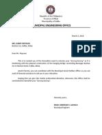 Reposar Letter