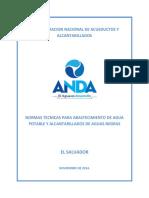 Normas Tecnicas Para Abastecimiento de Agua Potable y Alcantarillados de Aguas Negras.