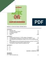 PHYSICAL SCIENCES PAPER 2 MEMORANDUM