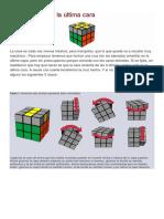 SOLUCION Ultima Capa Rubik