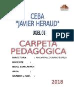 Carpeta Pedagogica Javier Heraud 2018