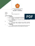 Silabus Statistika Farmasi 2012
