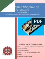 Informe Estructuración y Cargas