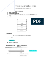 Calculo de Dotaciones Para Edificación de 4 Niveles