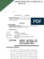 Bail Application-High Court