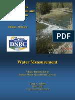 Water Measurement Schock