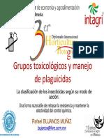 Grupos Toxicológicos y Manejo de Plaguicidas (Bujanos)