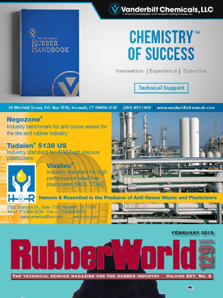 Rubber World 2018-02 pdf | Natural Rubber | Tire