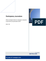Detecon Opinion Paper Participatory Journalism. Risks and Opportunities for newspaper companies to grow with user-generated content