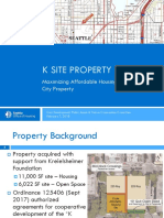 K Site Presentation to Seattle City Council — Feb. 7, 2018
