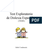 16094701 Test Exploratorio de Dislexia Especifica Tede1 130815201437 Phpapp01