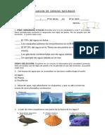 Evaluacion de Ciencias Naturales 5º Basico