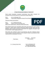 Perjanjian Kinerja Es II Tahun 2017