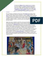 El Nuevo Testamento Es La Parte de La Biblia Cristiana Compuesta Por Un Conjunto Canónico de Libros y Cartas Escritas Después de La Muerte de Jesús de Nazaret