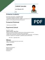 Curriculum Matias Aimar Gabriel Auccaise