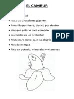 EL CAMBUR Exposición Preescolar