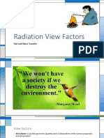 Radiation View Factors