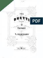 Gambaro 3 Duetti Per Clarinetto Op.10