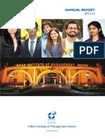 IIM Indore AnnualReport 2014 15