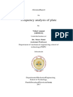 frequency analysis of plate