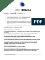 NOSSO CÓDIGO DE HONRA DO GRUPO GERAÇÃO QUÂNTICA