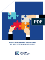 Código de Ética Para Proveedores Del Grupo Popular y Sus Filiales