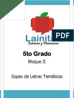 5to Grado. Bloque II. Sopas de Letras Temáticas.pdf