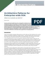 Architecture Patterns for Enterprise-Wide SOA