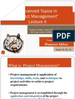 II Advanced Topics in Project Management