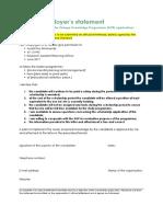 Kop Prescribed Format Employers Statement Msc