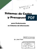 Sistemas de Costos y Presupuestos -José Tana-