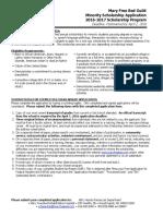 Minority Scholarship Application 2016 - 2017.pdf