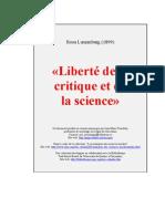 Liberté de la critique et de la science