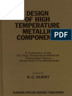 Design of high temperature metallic components - By R.C. Hurst