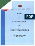 Kenyatta National Hospital Audit Report - June 30, 2014