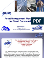 Asset Mgmt Plan Review for Small Communities