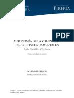 Autonomia Voluntad Derechos Fundamentales
