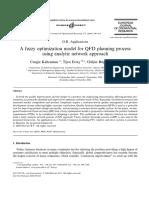 A fuzzy optimization model for QFD planning process using analytic network approach - Kahraman, Ertay, Büyüközkan - 2006