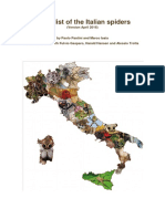 Pantini & Isaia - Checklist of the Italian Spiders April 2016