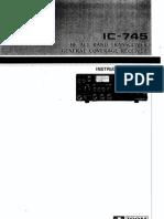 Icom IC-745 Instruction Manual