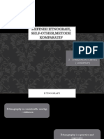 Kelompok 1-Definisi Etnografi, Self-other,Metode Komparatif-etnografi Indonesia