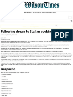 Tuscookany Following a Dream to Italian Cooking School the Wilson Times 2016