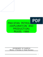Pakistan Petroleum Production Rules 1986