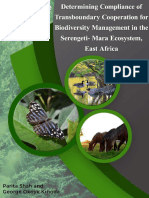 Determining Compliance of Transboundary Cooperation for Biodiversity Management in the Serengeti Mara Ecosystem, East Africa