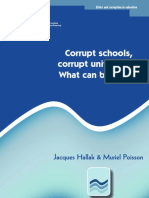 Corrupt Schools, Corrupt Universities-what Can Be Done