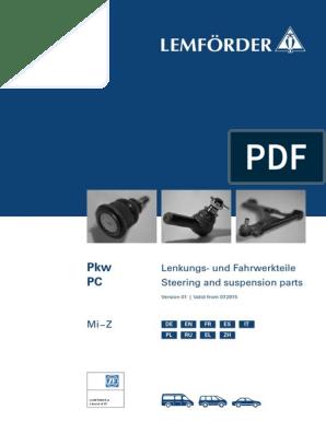 Lenkung LEMF/ÖRDER 30196 01 Faltenbalg