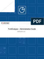 FortiAnalyzer 5.4.0 Administration Guide