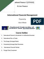 1. International Financial Environment